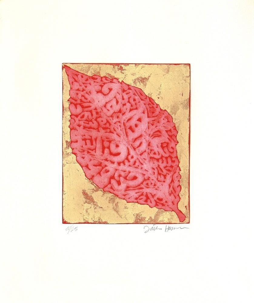 Contenitore prezioso rosso foglia sacra